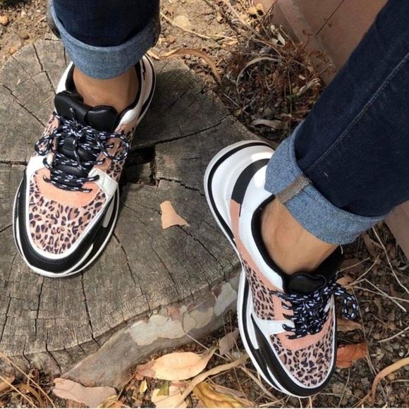 Qupid Shoes | Qupid Leopard White Black